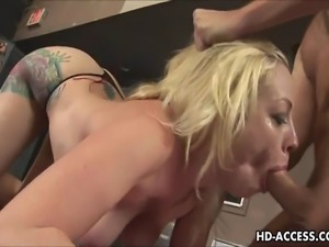 This stunning blonde shows her cock sucking skills off on camera.  Taking...