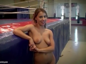 Young slim pornstars Nikki Thorne and Henessy with natural boobs