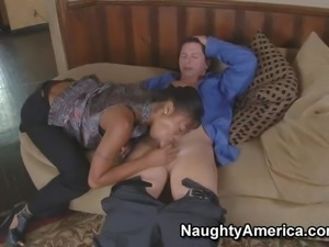 Arousing young black girl Evanni Solei with amazing firm delicious