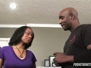 Dark skinned slut Porsha Carrera goes crazy about cock sucking.