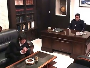 Arresting and sexy Japanese secretary Rina Fujimoto is used for hardcore fucking