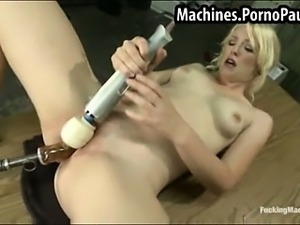 Machines fucking girls pussy