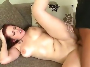 Slutty  sexy horny big busty blonde Tyler Steel gives Ryan Smiles dick a good...