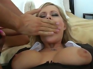 Sexy gal being sucked on her wet pussy hole and then freaked hard.