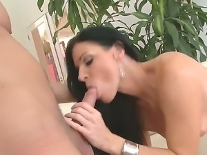 Sexy brunette India Summer enjoys having younger stud Danny Wylde to fuck her...