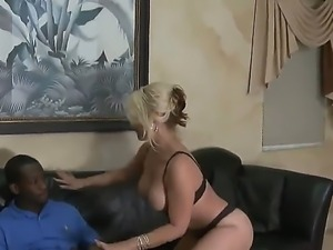 Black stud AJ and Sarah Vandella are having a wild interracial hardcore...