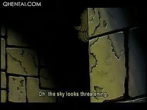 Hentai nasty mistress torturing a blonde sex slave in chains