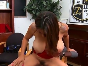 Amazing interracial action with a busty girlfriend named Raylene and Jason Brown