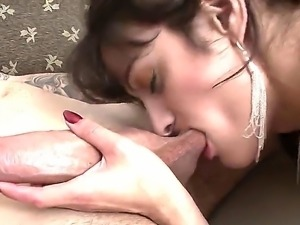 Sexy filthy shemales have the time of their lives as they suck cock and play...