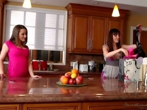 Dana Dearmond and Dani Daniels at two lovely lesbian honeys