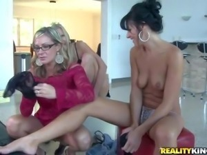 Brianna Ray, Kristen Cameron and Mindy Vix are three charming milfs with sexy...
