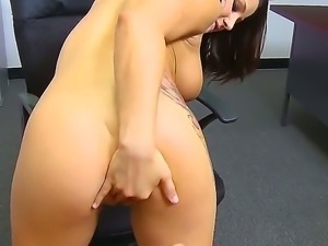 Busty slut Charity Bangs loves having this massive dick smashing up her tight...