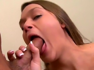 Irresistibly hot pornstar Abby Cross sucks like a first rate whore in steamy...