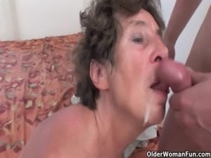 Hairy granny loves anal sex free