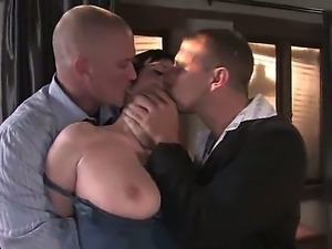 Sexy women Cherry Torn is being banged by two strangers Mark Davis and Alan...