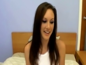 Horny pretty young girl blow-job in casting free