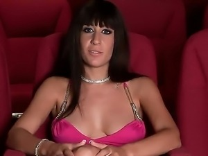 Amazingly fervent brunette milf Eloa Lombard with sexy long legs and a lot of...
