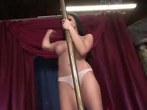 Glamorous goddess with perfect body named Aletta Ocean demonstrates...