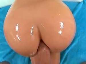 Superb brunette with big ass Mischa Brooks enjoys large cock stimusexy her...
