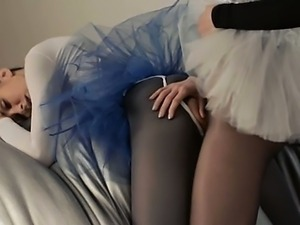 Young princess gets strap on copulated
