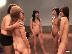 Group of hot Japanese girls fully naked part5