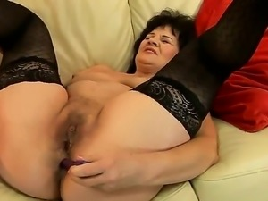 Sexy mature babe has a rough day as she gasps and moans as her cunt is being...