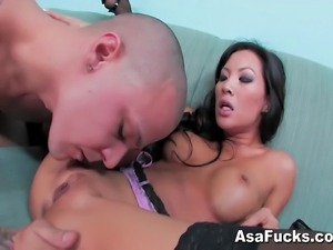 Asa Akira takes a big dig in this great scene with your favorite pornstar.