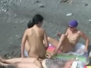 Public beach party swingers having risky sex free