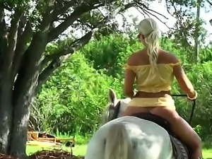 Outdoor action with a horny and sexy blonde whose name is Molly Cavalli