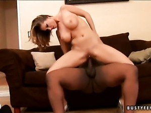 Blonde Devon Lee with massive hooters has a lot of sexual energy to spend and...
