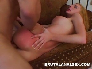 Frenchie has her tight ass spanked and fucked