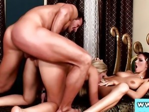 Cherry Jul and Eufrat pornstars in trio