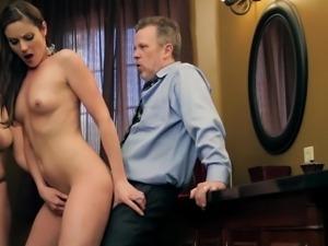 lucky guy fucks two milf pornstars