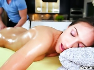 Chicana and horny dude have a lot of fun in this oral action