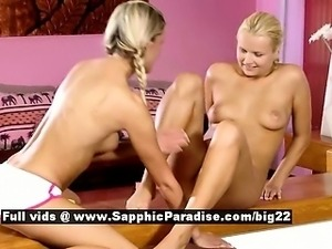 Paula and Aloha stunning lesbian babes licking