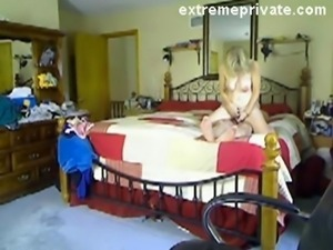 My blonde mum and her new BF on spy cam