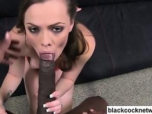 Black monster cock interracial fucking