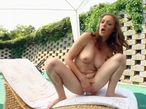 PornSharing.com sexy tube - Pretty heavy chested brunette with big juicy...