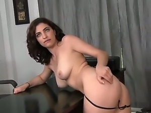 Moaning mouna moans as her ass and wet tight pussy is pounded by a huge stiff...
