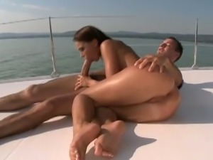 Ass fucking on a boat at sea
