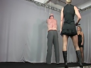 Very cruel and hard whipping clip by Goddess Kate and Mistress Zita.