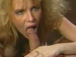 Blonde hairy pussy slammed retro style