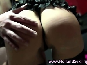 Real euro whore blowjob finger