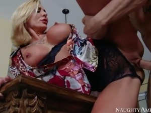 Hot and arousing blonde milf with an amazing body, firm medium sized boobs...