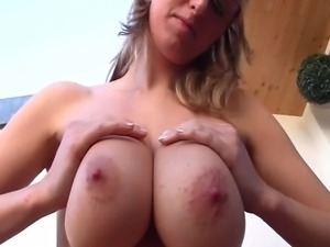 WOW! Look at these properly huge big tits, massive naturals! Shelby looks so...