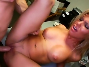 Cock hungry young amateur blonde Aubrey Addams with round firm hooters and...
