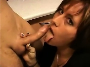 Blowjob mit schlucken