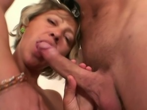 Mature maid fucked by a young stud