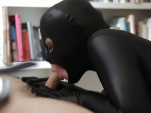 The catwoman rides cock
