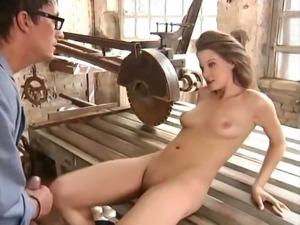 Leonie fucks the janitor